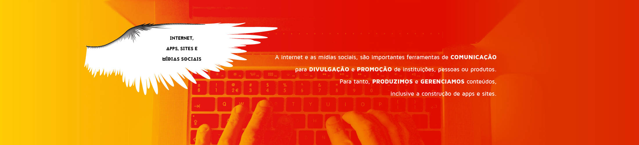Internet, apps, sites e mídias sociais